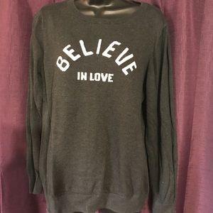 Believe in love sweater